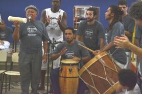 Rodrigo Pança e mestre Durval do Coco. Festa no Amorim Lima, 2014.