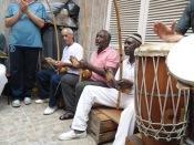 Mestre Dorival com mestres Pedro Miguel e Alcides