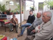 Edison, Valter, Durval e Dorival - Reunião Grupo de Estudos CEACA, 09.08.2014 - casa do Edison.