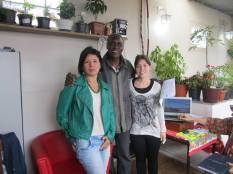 Katiane, Alcides e Aninha. Reunião 9 de Agosto 2014 - casa do Edison.
