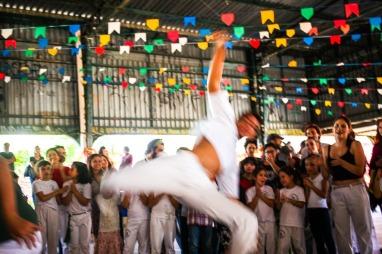 Capoeira na Festa Junina