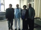 Marcos Mucheroni, Edison Santos, Lázara (mãe) e Mauro dos Santos Jr.