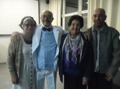 Alzira Cano, Edison Santos, Lázara (mãe) e Mauro dos Santos Jr.